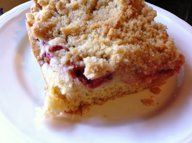 Rhubarb-Strawberry Crumb Cake (Photo by Jathan Fink, Jadeworks Entertainment)
