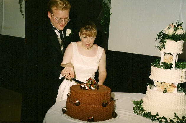 Jathan and Heather's wedding cakes