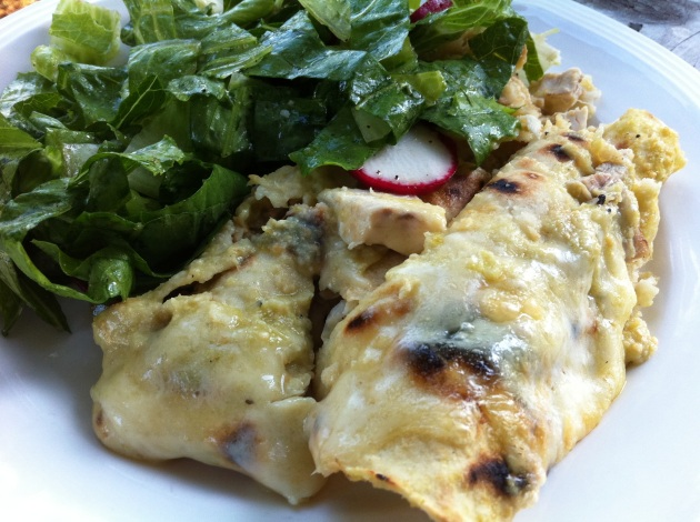 Chicken Enchiladas Salsa Verde