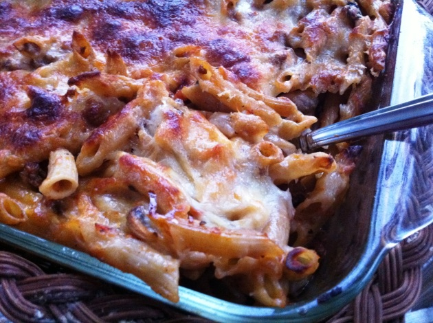 Spicy Baked Penne Casserole