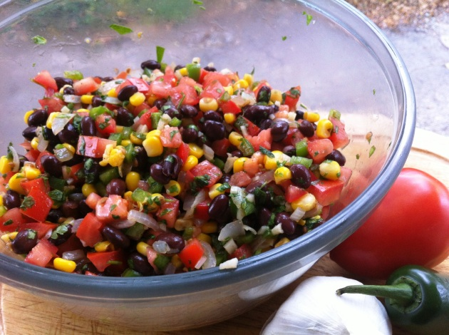 Corn, Tomato, and Black Bean Salsa