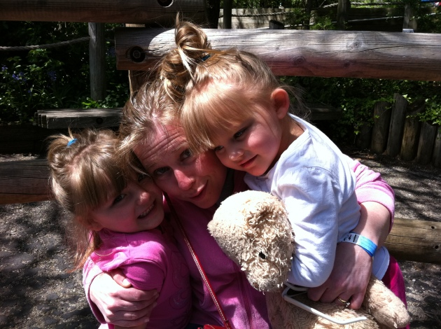Heather with Aubrey and Carly