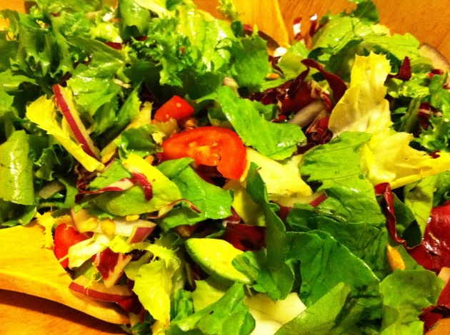 Four Lettuce Salad with Tomatoes and Avocado
