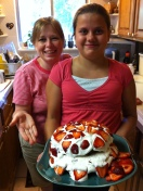 Heather and Esperanza bake a cake