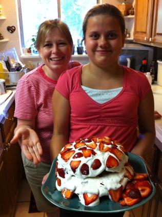 Heather and Esperanza bake a cake