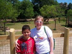 Heather and Junior at Cincinnati Zoo