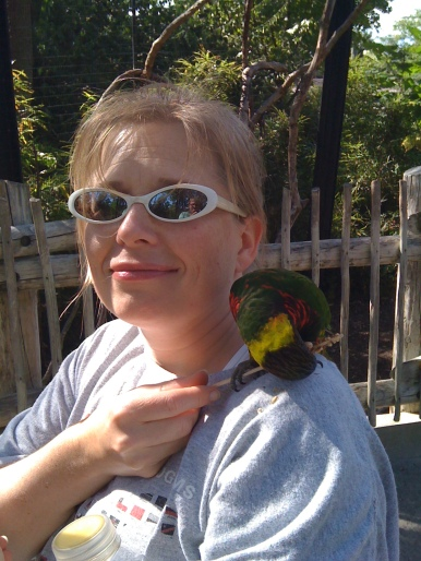 Heather and the lorikeet
