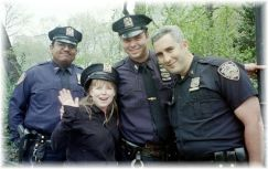 Heather with New York's Finest
