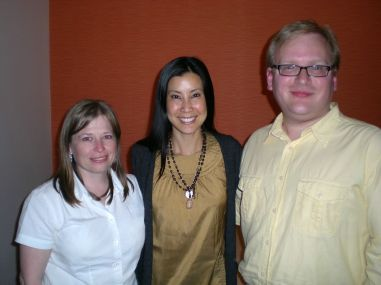 Jathan and Heather with Lisa Ling