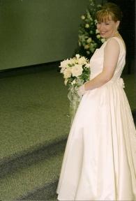 Heather on her wedding day