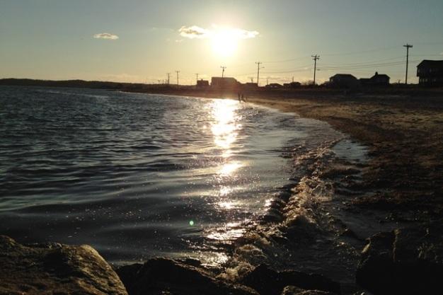 Falmouth Harbor at sunset