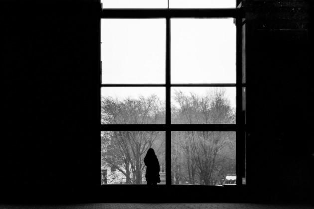 Looking outside, longingly