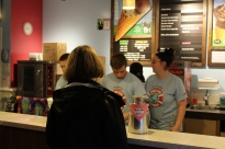 Customer orders at Ben & Jerry's