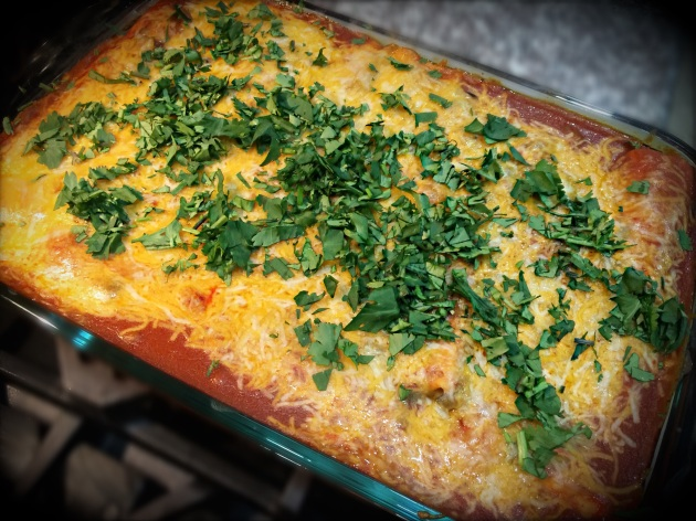 Angus Enchiladas with Green Chilies
