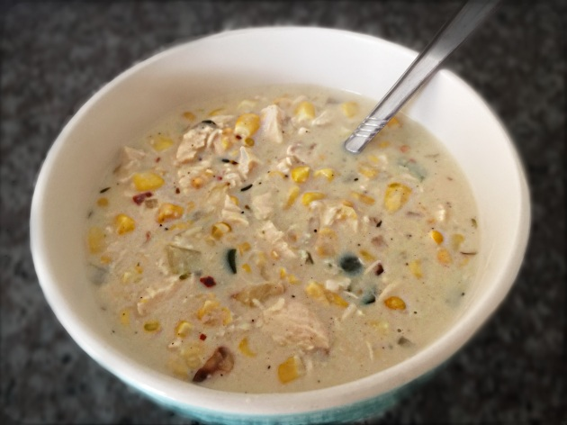 Chicken Corn Chowder with Poblano Chilies