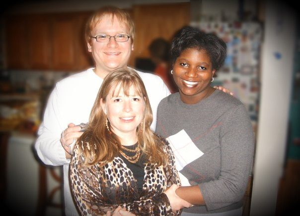 Jathan and Heather with Monica Trotter Phillips