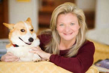 Lisa Scottoline with dog