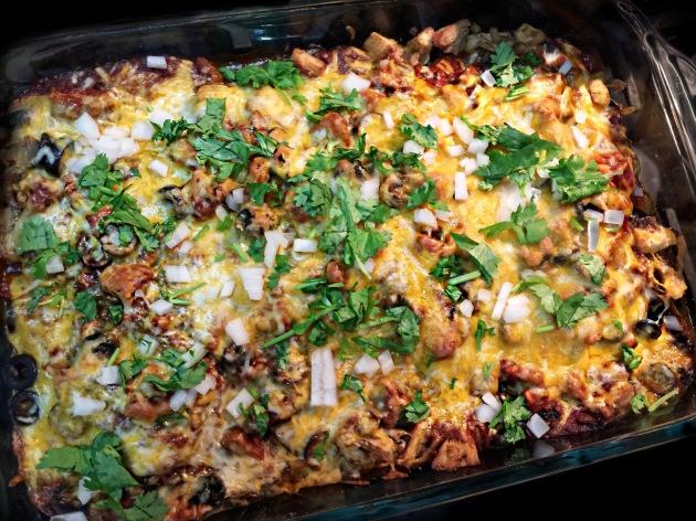 Stacked Turkey Enchiladas
