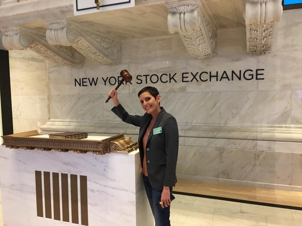 Maureen Chiquet at the New York Stock Exchange