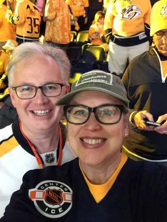 Randy and J.T. at the Preds playoffs