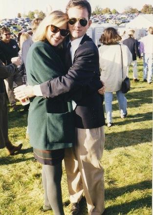 J.T. Ellison embraces her husband, Randy