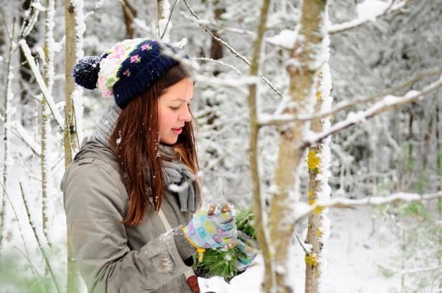 Woman in winter