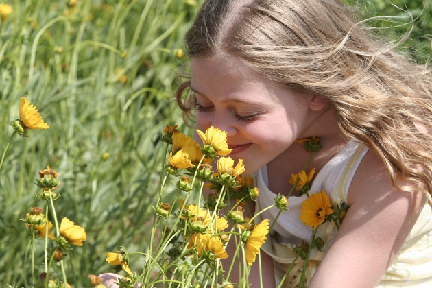 Smelling the daisies