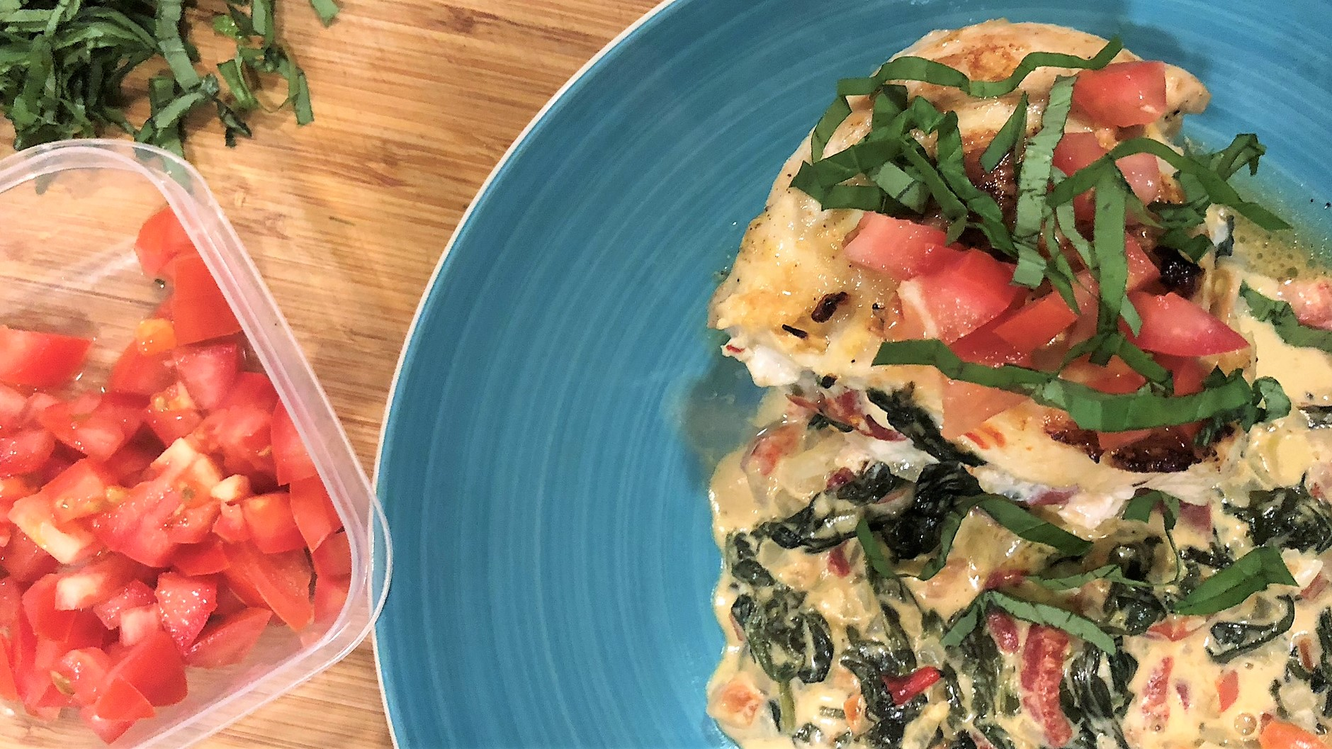Stuffed Chicken Breasts with Spinach and Peppers