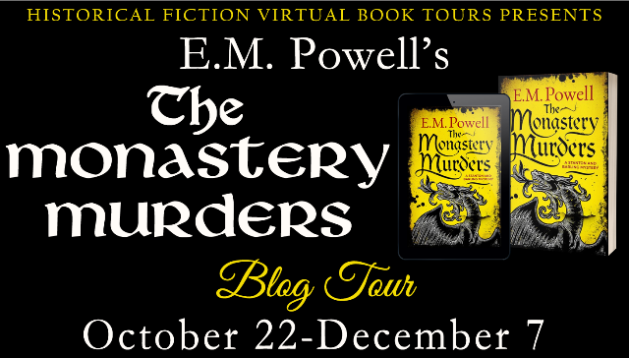E.M. Powell's THE MONASTERY MURDERS Blog Tour Header