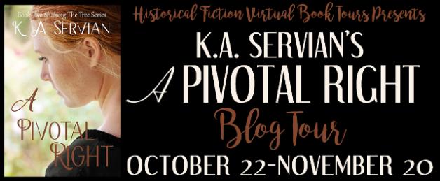 K.A. Servian's A PIVOTAL RIGHT Blog Tour banner