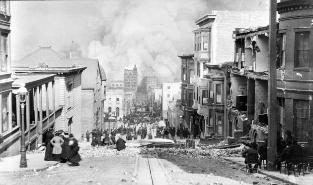 San Francisco Fire Sacramento Street 1906