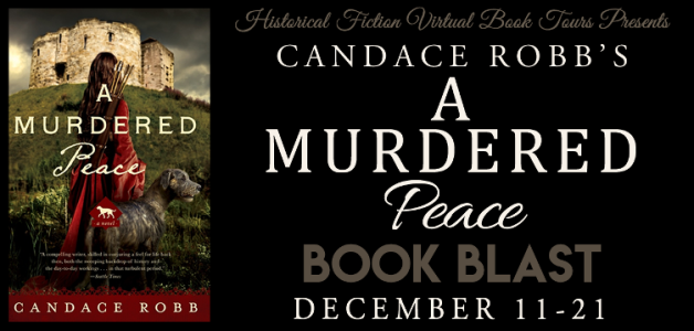Candace Robb's A MURDERED PEACE book blast banner