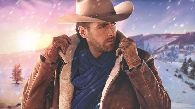 Cowboy pulls up collar