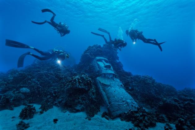 Easter Island moai replica