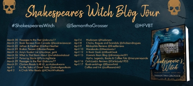 SHAKESPEARE'S WITCH blog tour banner