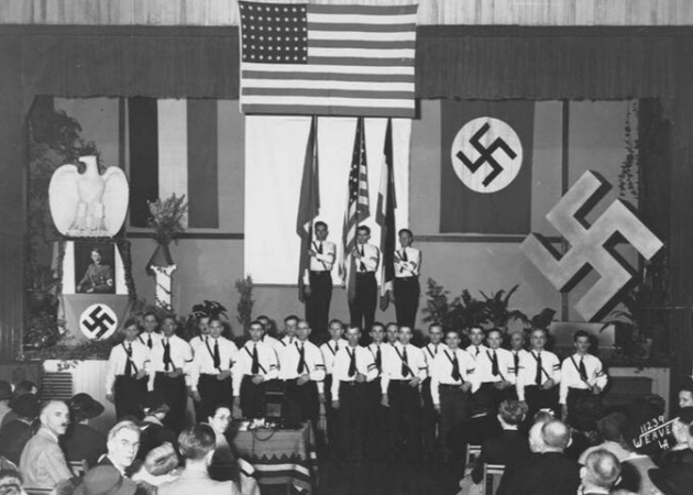 Nazis in Los Angeles celebrate Hitler's birthday