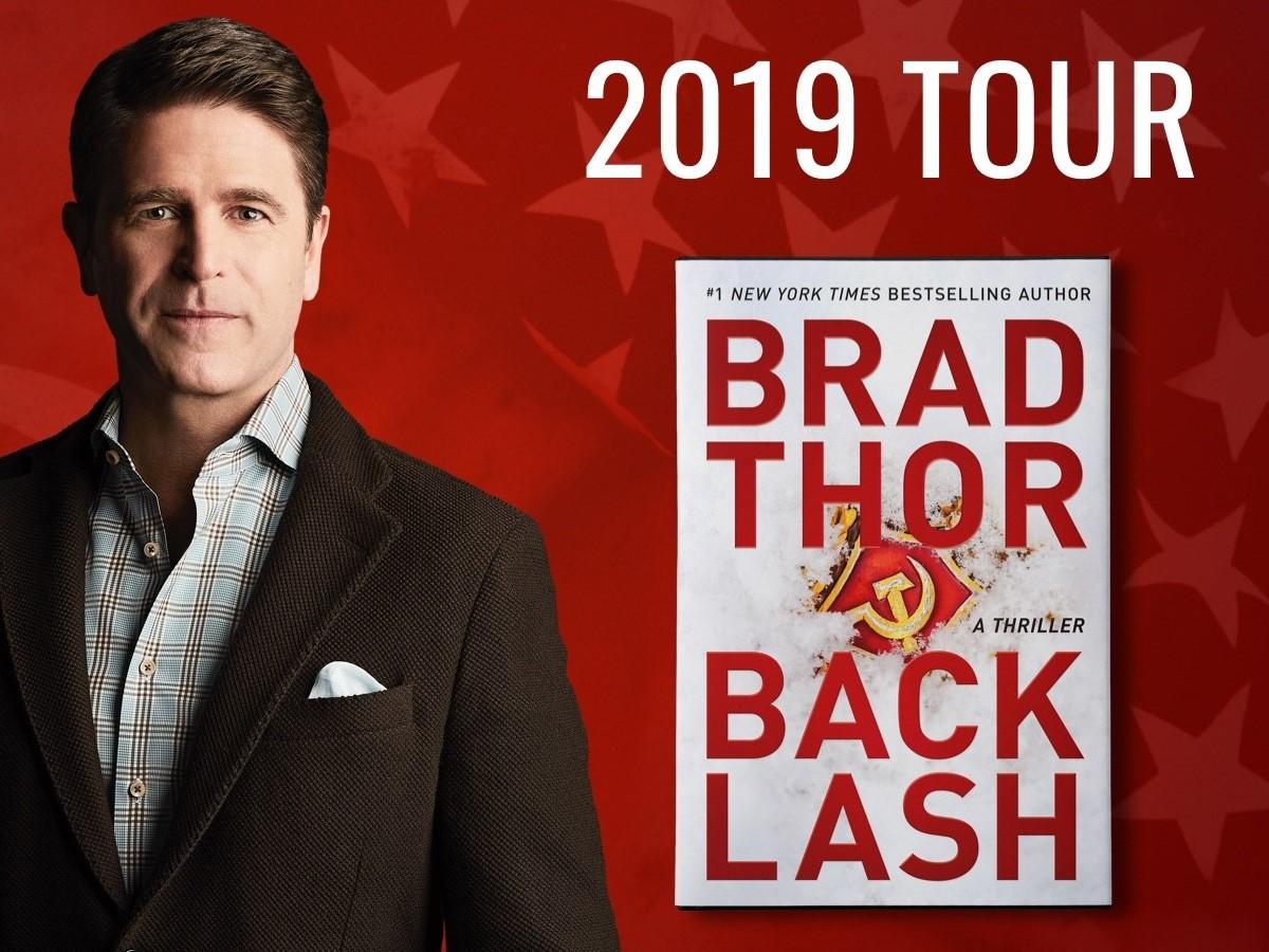 Brad Thor 2019 BACKLASH book tour