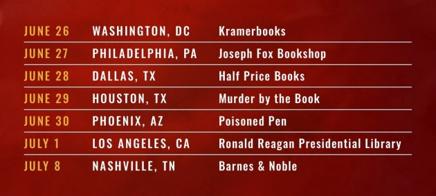 Brad Thor BACKLASH tour dates