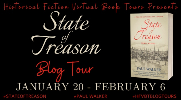Paul Walker's STATE OF TREASON Blog Tour Banner