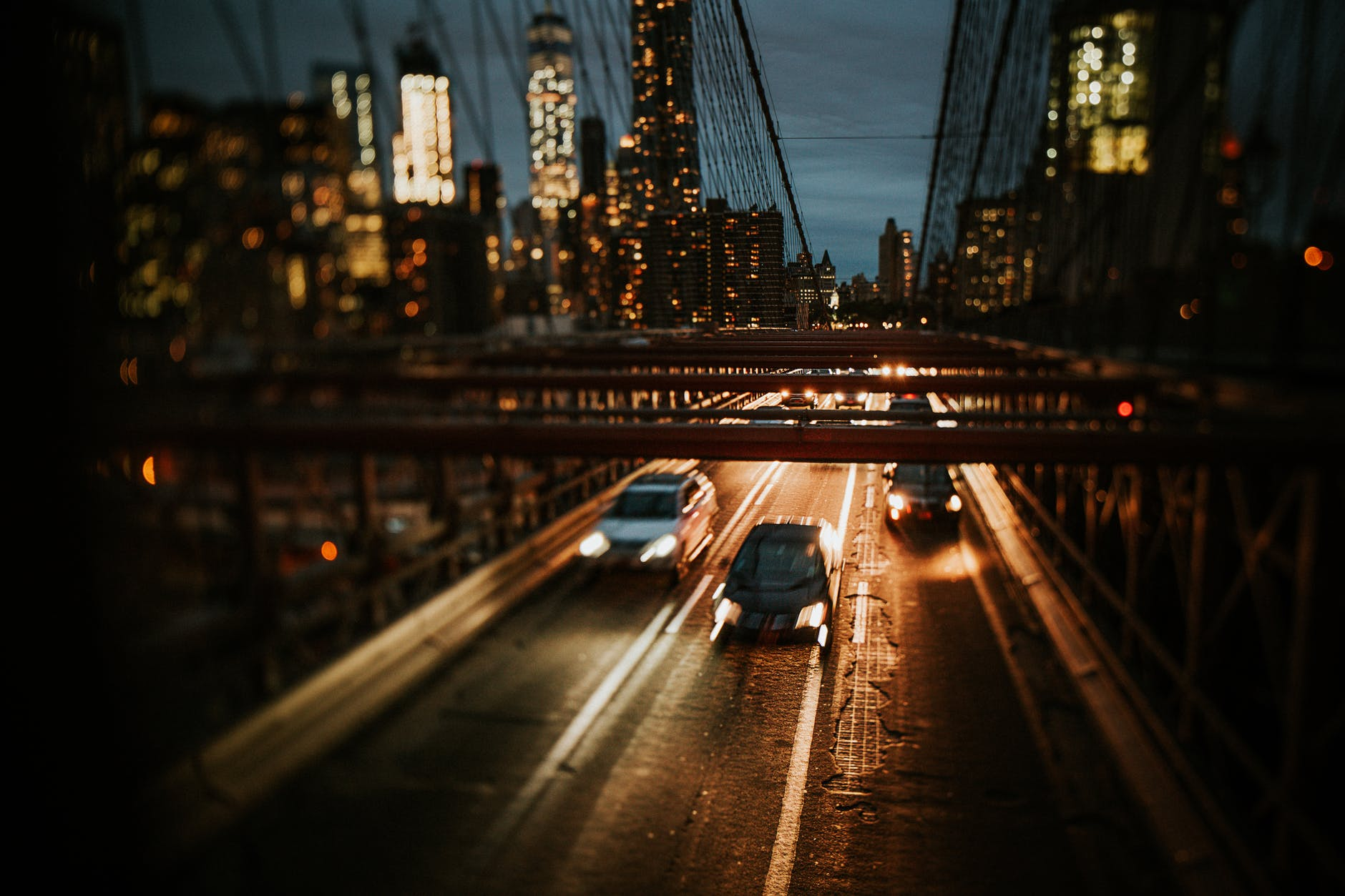 bridge with cars traveling