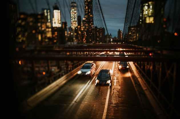 bridge with cars traveling