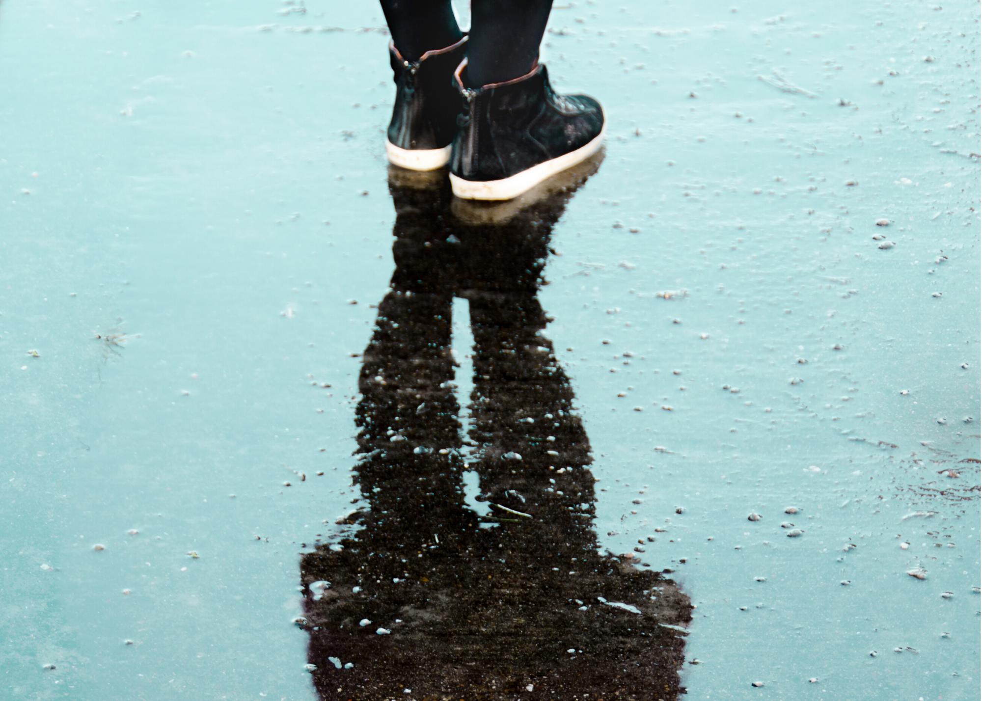 Woman in rain