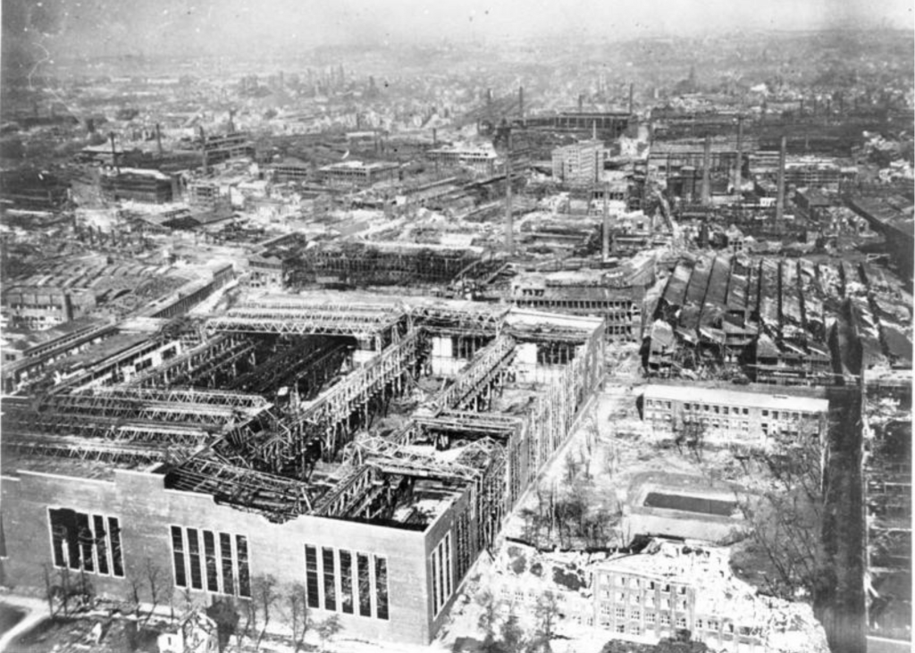 Devastation of Krupp factory, Essen, 1945