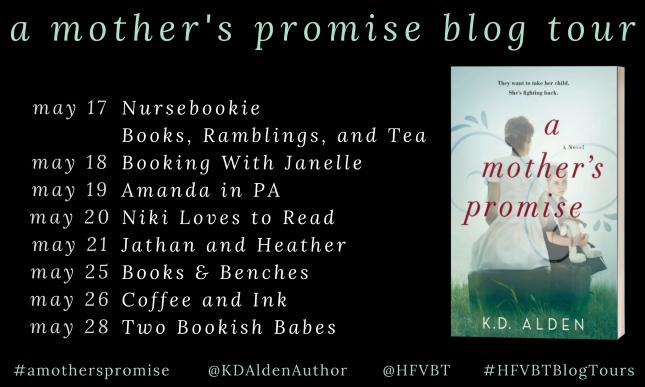 K.D. Alden's A MOTHER'S PROMISE blog tour banner
